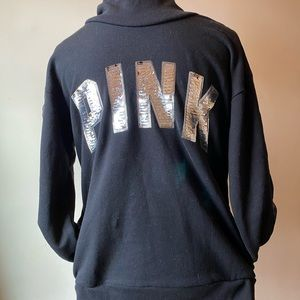 Pink by Victoria's Secret black sweatshirt size S